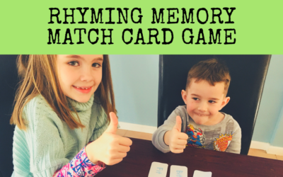 Rhyming Memory Match Game (beginner reader)