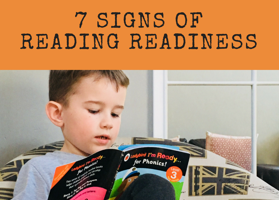 7 Signs of Reading Readiness