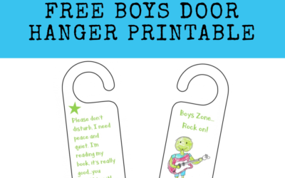 Boys Door Hanger