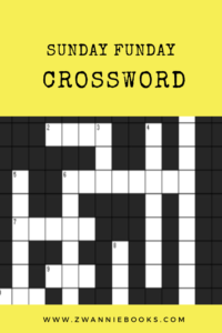 Zwannie Books sunday funday crossword