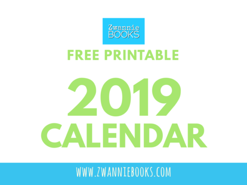 2019 Calendar from Zwannie Books